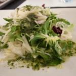 Salad with pesto and cheese. delicious!!