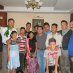 Our family members with hotel staff