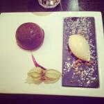 Coulant au chocolat et glace speculos