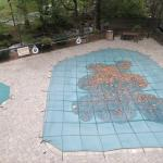 This Hampton was one of the first hotels in Gatlinburg to place a tarp over their pool.