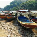 Boats on the Kok River, just behind the GH.