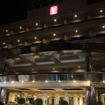 hotel front view at night