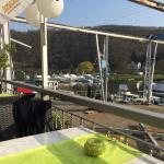 Blick vom Restaurant über den Hafen.