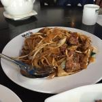 Yummy fried noodle with beef