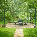 We offer a gazebo, grills, a firepit, and guest-only kayaks.