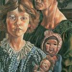 Hilda, Unity and Dolls, 1937. Loaned to the Stanley Spencer Gallery by Leeds Museums and Galleri