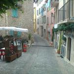 The terrasse and the village street