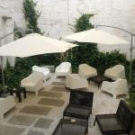 Small outdoor courtyard