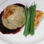 Real beef Wellington, tendeloin, mushroom ducelle and foi gras