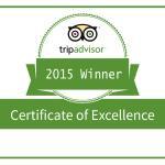 Tripadvisor Certificate of Excellence Award 2015