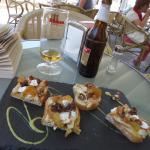 Spanish Tostada with Chicken & Goats Cheese