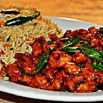 Chilli Chicken with Fried Rice