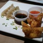 Steamed Pork Dumplings and Krab Rangoon