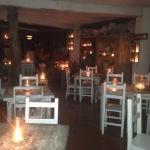 Beautiful nighttime setting at Posada Margherita