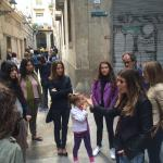 Narow alleys in Barcelona Gothic District