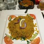 Delicious tandoori grill and Biryani rice dish.