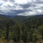 Mountain views on drive up to Sipapu Ski Resort