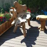 Free formed wooden chair, Cedrick's Coffee House  |  1610 Joan Avenue, Crofton, British Columbia
