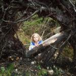 Daughter alogn trail