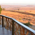 Deck in the front of the Drakensberg luxury cave