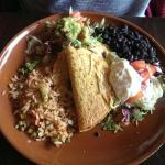 Margaritas, taco, corn and mixed fajitas!