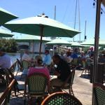 Outside dining on the ICW.  Two Georges