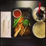 Marinated Chicken with a side of Steamed Rice