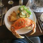 Local caught crab and salad