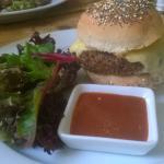 Mushroom Ricey Burger (Delicious!)