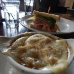 French Onion soup and ham/cheese sandwich