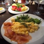"""kleines Frühstück mit """"Lachsupdate"""""""