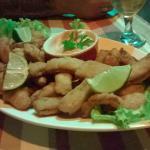 Porção de isca de peixe! Deliciosa!