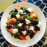 Greek salad & a corner of Morocco