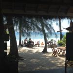 the view from the beach bar/restaurant