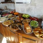 Turkish breakfast with lots of choices and made-to order eggs