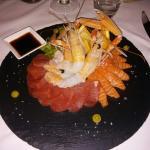 Ottimo antipasto di pesce crudo