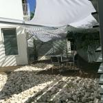 Terraza/comedor del hotel