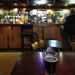 Enjoying a pint of locally brewed ale