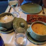 The food here is extremely tasty, well presented and served quickly. Spicy, but tastefully so.