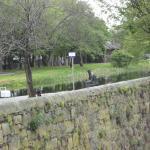 Across railway wall