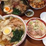 黒豚雲呑麺+煮豚飯セットと夕食雲呑麺+麻婆飯セット