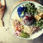 Khao yam, Rice herbal Salad.