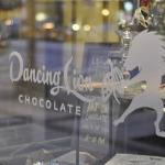 Dancing Lion Chocolate. Outdoor seating during the Summer.