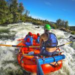 Headed into Powerhouse Rapid on the Rogue River