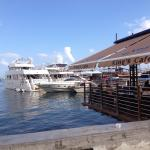 Kings Cafe is nestled right on the harbour front of Paphos.  The view of the bay is spectacula