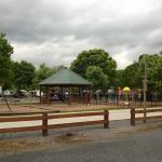 Nice playground, community fire pit and splsh park.