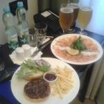 Room service was good for a night in