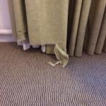 Curtains in bedroom for almost £100 per night