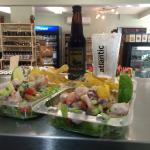 Scallop & Shrimp Ceviche with Atlantic Brewing Co. Real Ale