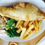 Haddock and chips and Childs macaroni cheese